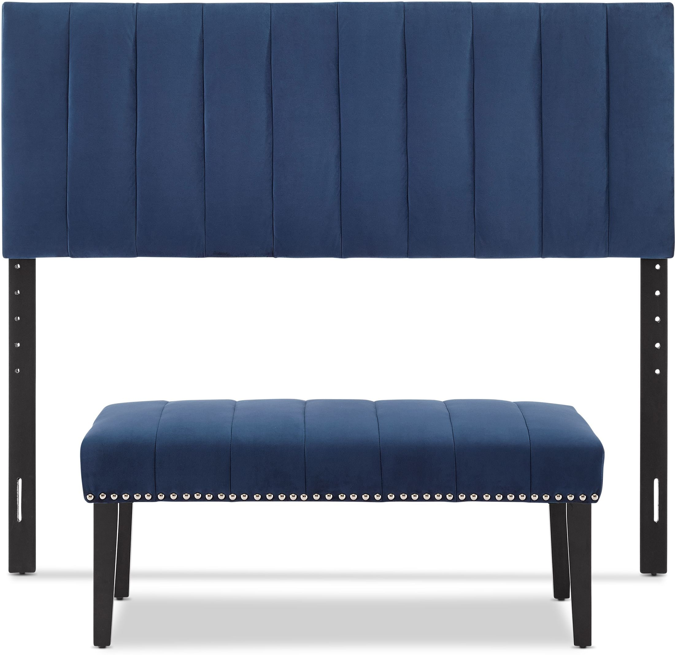 Bedroom Furniture - Stella Queen Upholstered Headboard and Bench Set