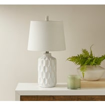structure white table lamp