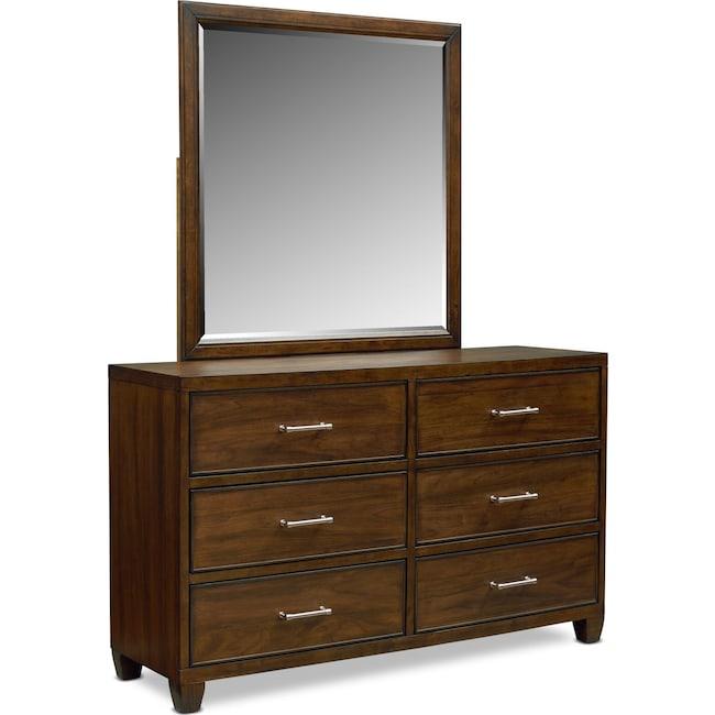 Bedroom Furniture - Sullivan Dresser and Mirror