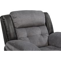 tacoma manual black glider recliner