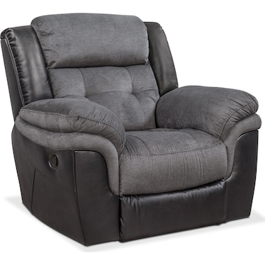 Tacoma Manual Glider Recliner - Black