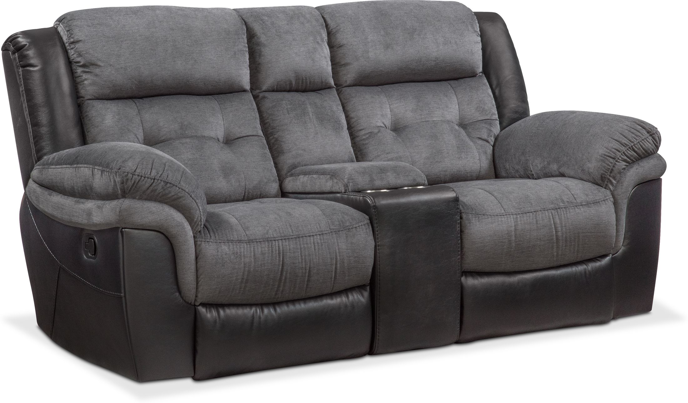 Living Room Furniture - Tacoma Manual Reclining Loveseat