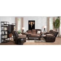 tacoma manual dark brown  pc living room