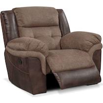 tacoma manual dark brown glider recliner