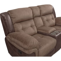 tacoma manual dark brown loveseat