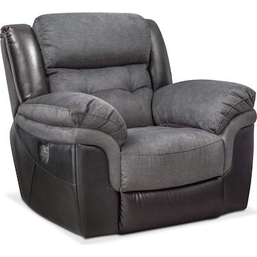 Tacoma Dual-Power Recliner - Black