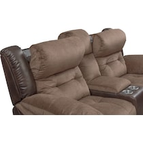 tacoma power dark brown loveseat