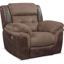 tacoma power dark brown power recliner