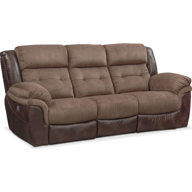 Living Room Furniture - Tacoma Dual-Power Reclining Sofa