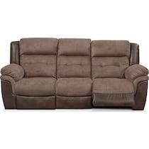 tacoma power dark brown sofa