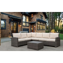 tahoe light brown outdoor sectional set