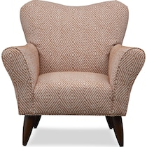 tallulah orange accent chair