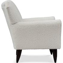 tallulah white accent chair