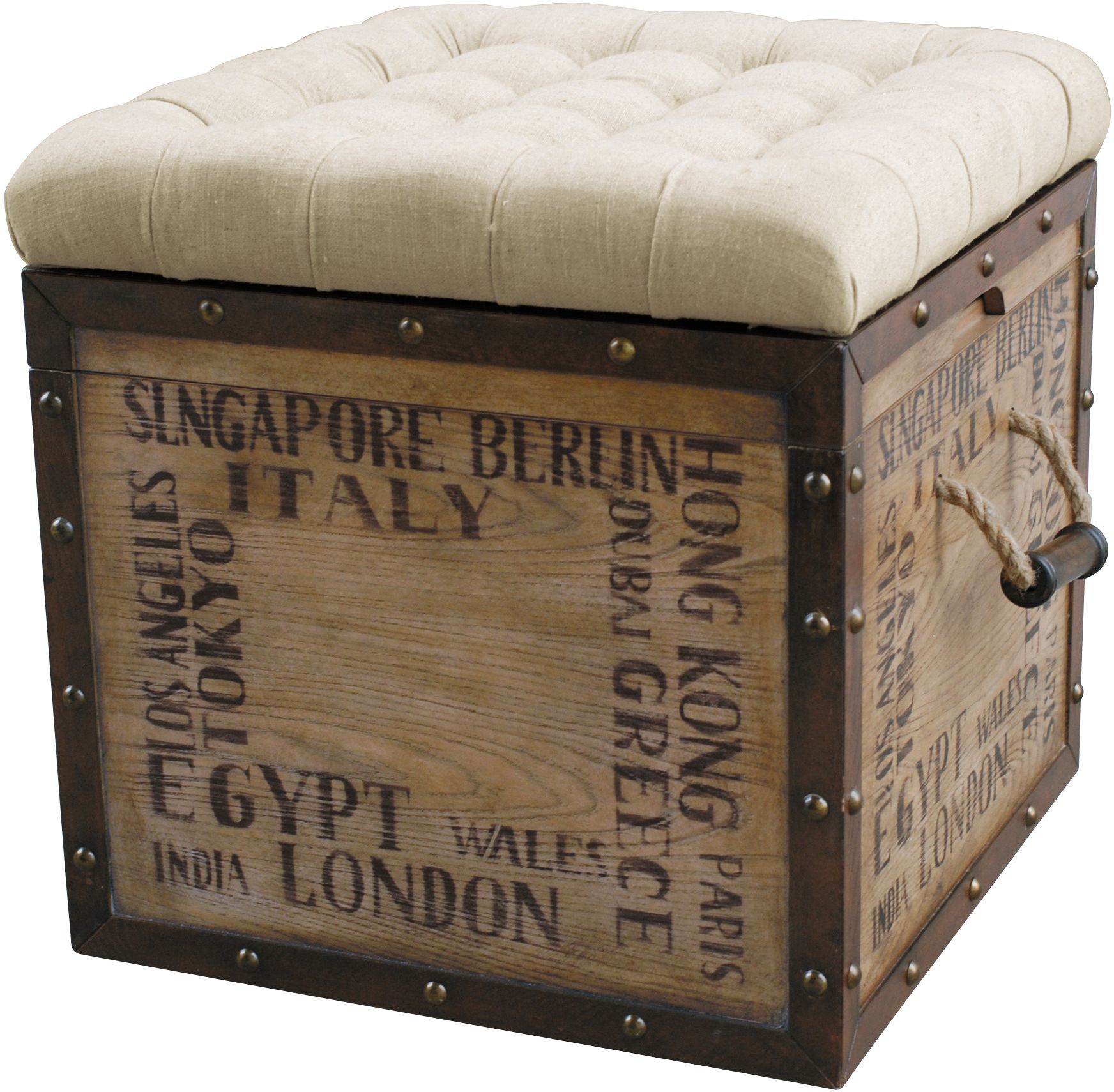 Accent and Occasional Furniture - Teca Storage Ottoman