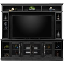telluride dark brown entertainment wall unit