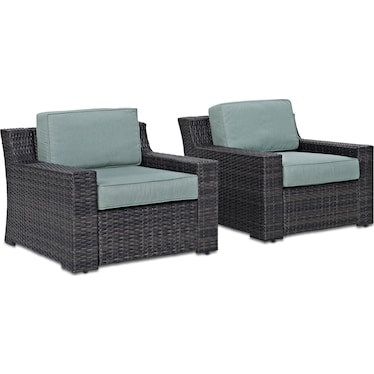 Tethys Set of 2 Outdoor Chairs