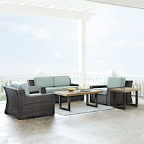 tethys mist outdoor loveseat set