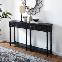 theodore black console table