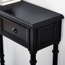 theodore black console table