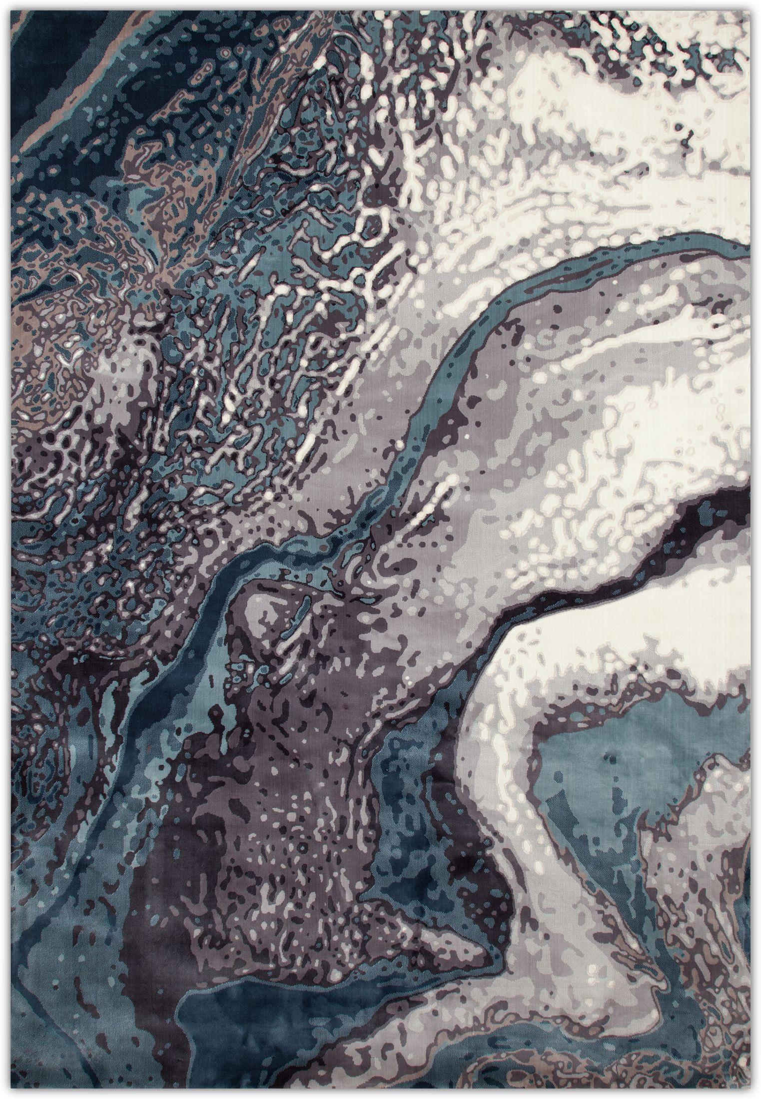 Rugs - Titanium Area Rug - Aqua Blue