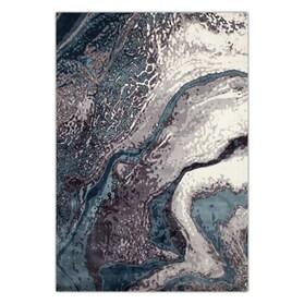 Titanium Area Rug - Aqua Blue