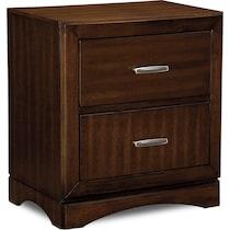 toronto dark brown nightstand