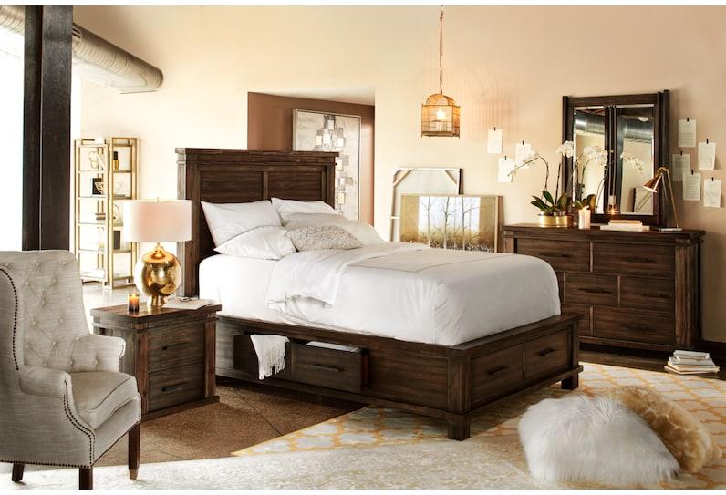 tribeca bedroom dark brown nightstand