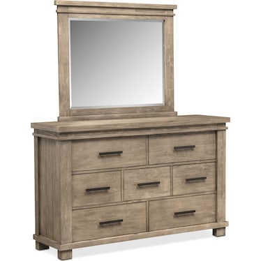 Tribeca Dresser and Mirror - Gray