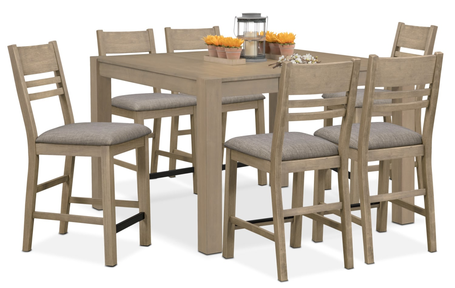 Dining Room Furniture - Tribeca Counter-Height Dining Table and 6 Dining Chairs