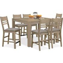 tribeca ch dining gray  pc dining room