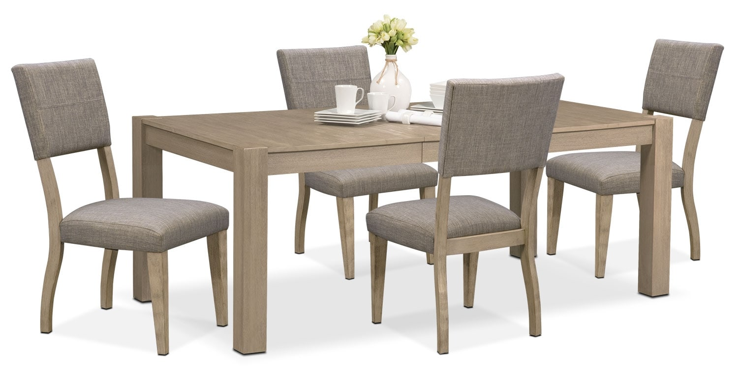 Dining Room Furniture - Tribeca Dining Table and 4 Upholstered Dining Chairs