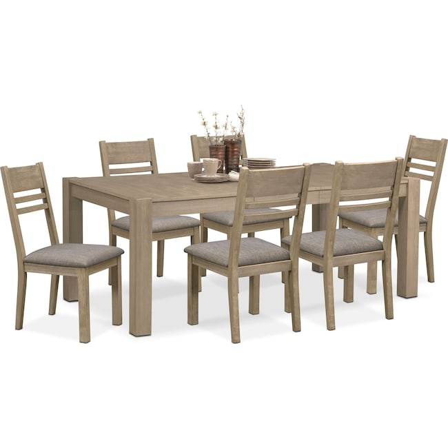 Dining Room Furniture - Tribeca Dining Table and 6 Dining Chairs