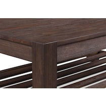 tribeca occasional dark brown coffee table