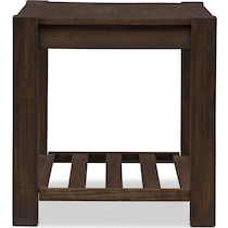 tribeca occasional dark brown end table