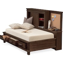 tribeca youth dark brown full bed