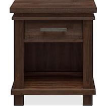 tribeca youth dark brown nightstand