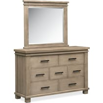 tribeca youth gray dresser & mirror