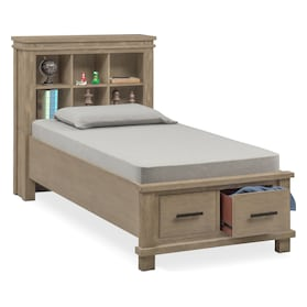 Tribeca Youth Full Bookcase Storage Bed
