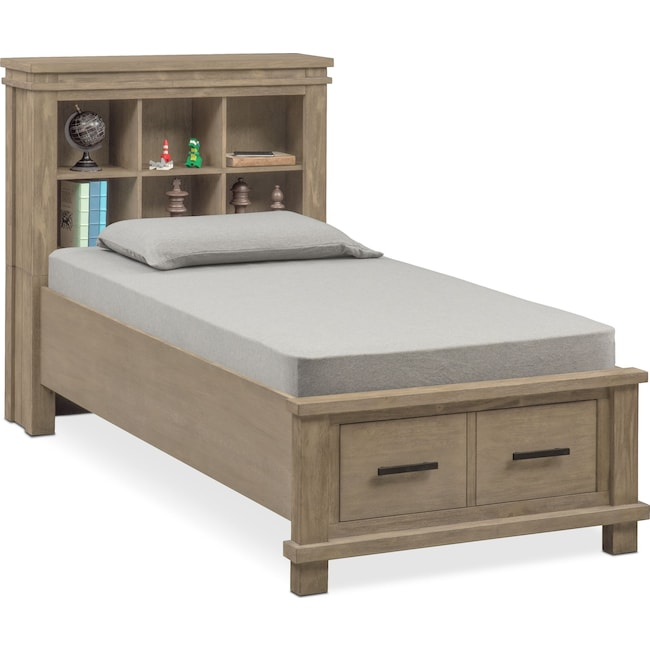 Bedroom Furniture - Tribeca Youth Twin Bookcase Storage Bed