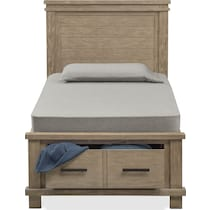 tribeca youth gray twin bed