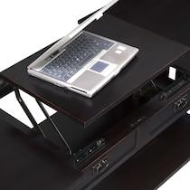 tribute ii black lift top coffee table