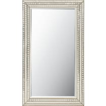 triple mosaic silver floor mirror