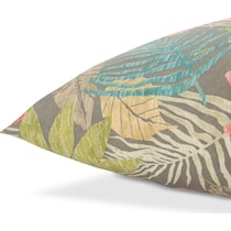 tropical multicolor outdoor pillow