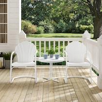 tulip white outdoor chair set