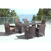 turner dining brown outdoor dining table
