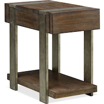 union city dark brown chairside table