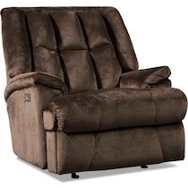 vance dark brown power recliner