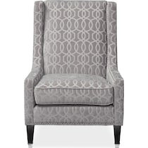 venn gray accent chair