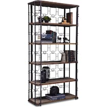 veronica antique black bookcase