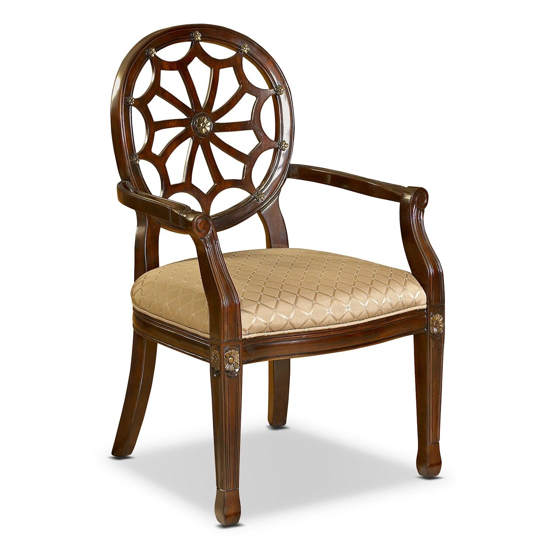 Living Room Furniture - Vicola Accent Chair - Mahogany